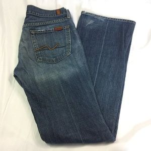 7 For All Mankind Size 29 Dark Wash Boot Cut Jeans